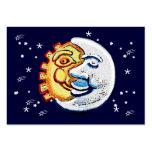 Sun y luna y estrellas plantilla de tarjeta de visita