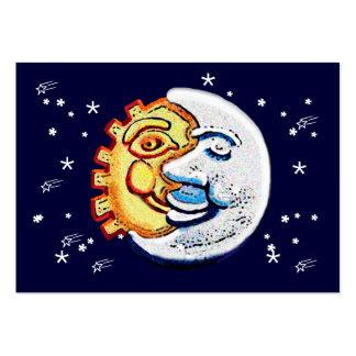 Sun y luna y estrellas tarjetas de visita grandes