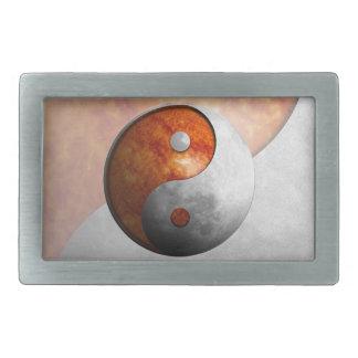 Sun y luna Yin Yang Hebillas De Cinturón Rectangulares