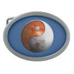 Sun y luna Yin Yang Hebilla De Cinturon Oval