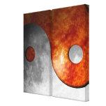 Sun y luna Yin Yang (personalizable) Lona Envuelta Para Galerias