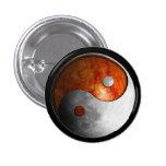 Sun y luna Yin Yang (personalizable) Pin