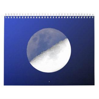 Sun y luna calendario de pared