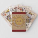 Sun y naipes de la luna cartas de juego