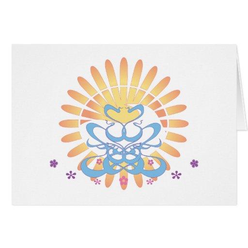 ¡Sun y resaca!  Arte del vector: Felicitaciones
