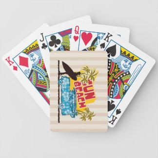 Sun y resaca retros barajas de cartas