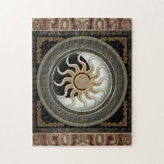 Sun y rueda del Pagan de la luna Puzzles