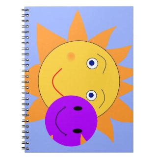 Sun y smiley libreta