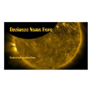 Sun y tarjetas de visita de la luna