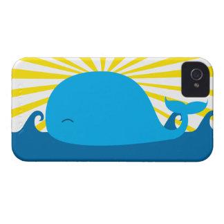 Sun y un caso del iPhone 4 de la ballena iPhone 4 Cárcasa