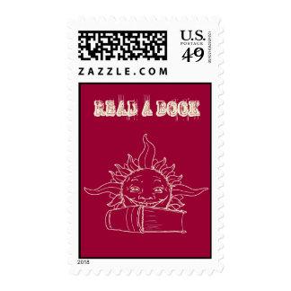 Sun y un libro sello