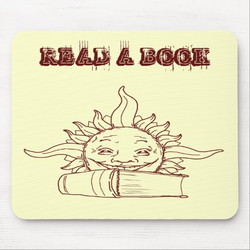 Sun y un libro tapete de ratones