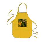Sun yellow apron with iris garden theme