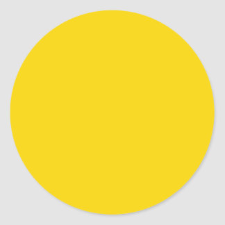 Sun Yellow Color Only Visual Identifier Tools Round Sticker