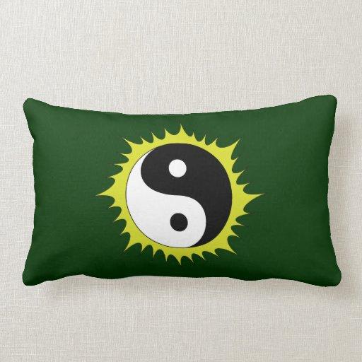 Sun Yin Yang Throw Pillows