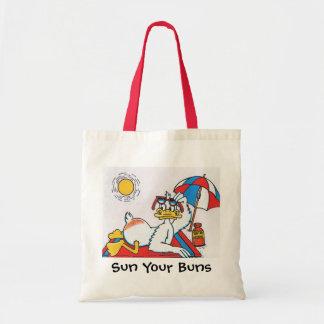 Sun Your Buns Vacation Humor Tote Bag