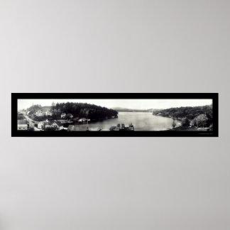 Sunapee Harbor NH Photo 1908 Poster