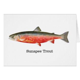 Sunapee Trout Fish Card