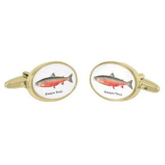 Sunapee Trout Fish Gold Cufflinks