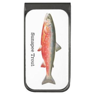 Sunapee Trout Fish Gunmetal Finish Money Clip