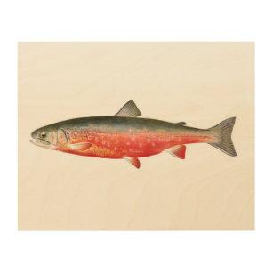 Sunapee Trout Fish Wood Wall Art