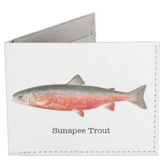 Sunapee Trout Fishing Billfold Wallet