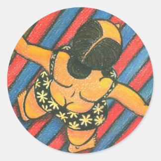 Sunbath Classic Round Sticker