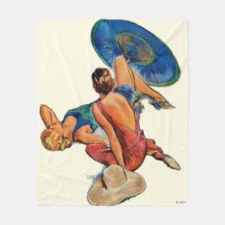 Sunbathers Fleece Blanket
