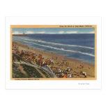 Sunbathers Looking Towards Belmont Shores Postcard