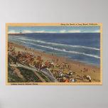 Sunbathers Looking Towards Belmont Shores Poster