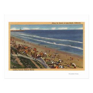 Sunbathers que miran hacia las orillas de Belmont Postal