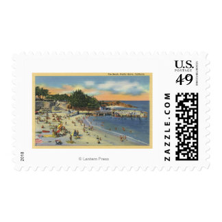 Sunbathers & Swimmers at the Beach Stamp