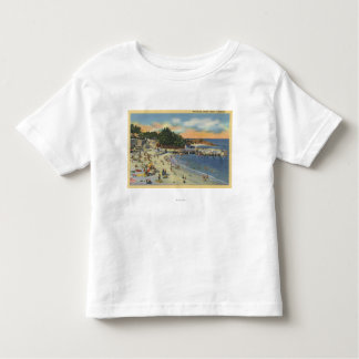 Sunbathers & Swimmers at the Beach Toddler T-shirt