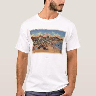 Sunbathers & Swimmers on Boardwalk & Beach T-Shirt