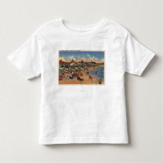 Sunbathers & Swimmers on Boardwalk & Beach Toddler T-shirt