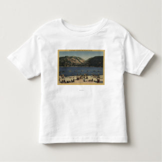 Sunbathers & Swimmers on the Beach Toddler T-shirt