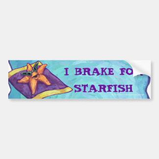 Sunbathing Starfish Car Bumper Sticker