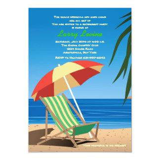 Sunbathing Time Retirement Party Invitation