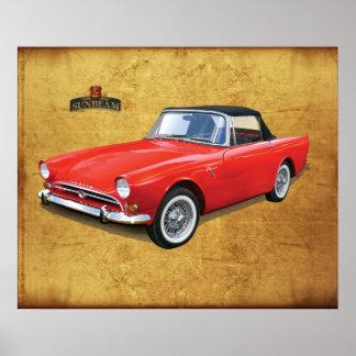 Sunbeam Alpine Car Poster