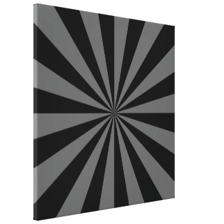 Sunbeam in Black and Grey Canvas Print