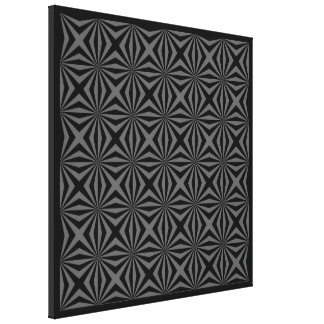 Sunbeam in Black and Grey tiled Canvas Print