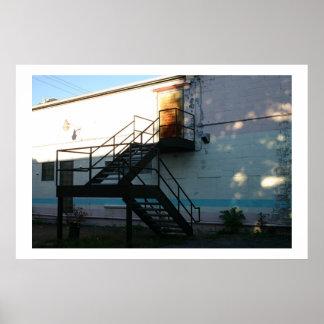 Sunbeam on Stairwell  Poster