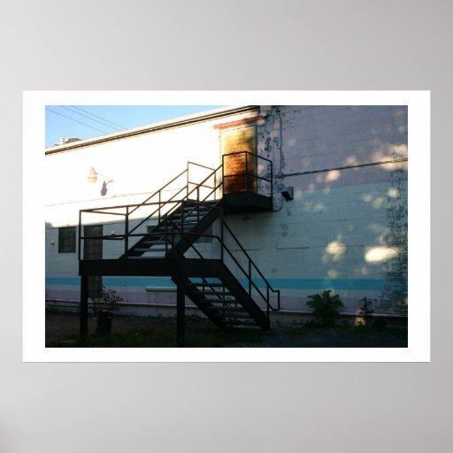 Sunbeam on Stairwell  Posters