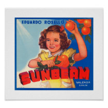 Sunbeam Orange Label Poster