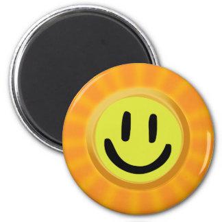 Sunbeam Smiley 2 Inch Round Magnet