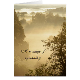 Sunbeams in a landscape sympathy message card