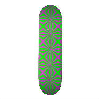 Sunbeams in Green and Pink tiled Skateboard