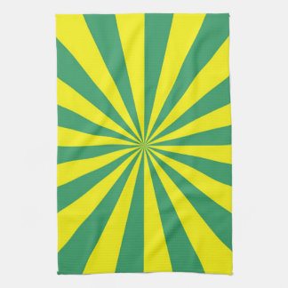 Sunbeams in Green and Yellow Towels