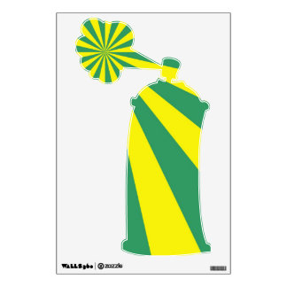 Sunbeams in Green and Yellow Wall Sticker