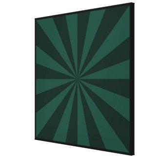 Sunbeams in Green Canvas Print